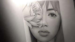 Blackpink ~ Lisa drawing live