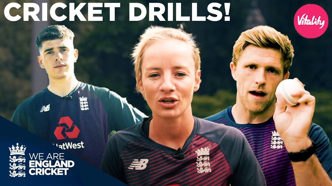 DIY Cricket Drills! | Tips & Tricks From England Cricket Stars | Vitality Fit 4 Cricket - England & Wales Cricket Board