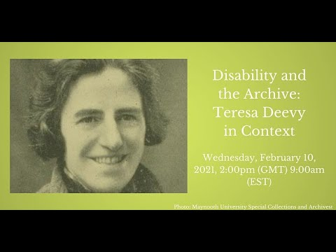 Download Disability and the Archive: Teresa Deevy in Context 10th February 2021