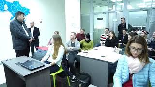 Саакашвили в Хмельницком бизнес хабе, который создали волонтеры