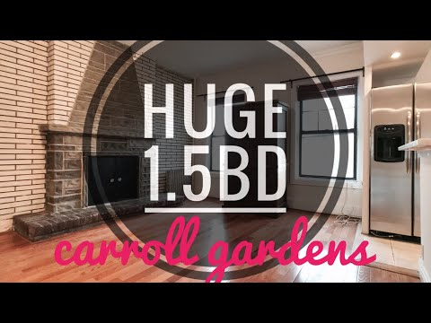Huge 1.5 Bedrooms Apartment in Carroll Gardens with Remodeled Kitchen 👉 Video Tour NYC Brooklyn NY