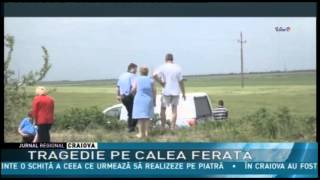 TRAGEDIE PE CALEA FERATĂ