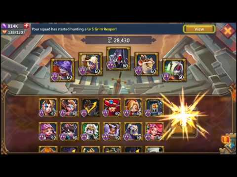 Soloing Lv 5 Monsters In Lords Mobile