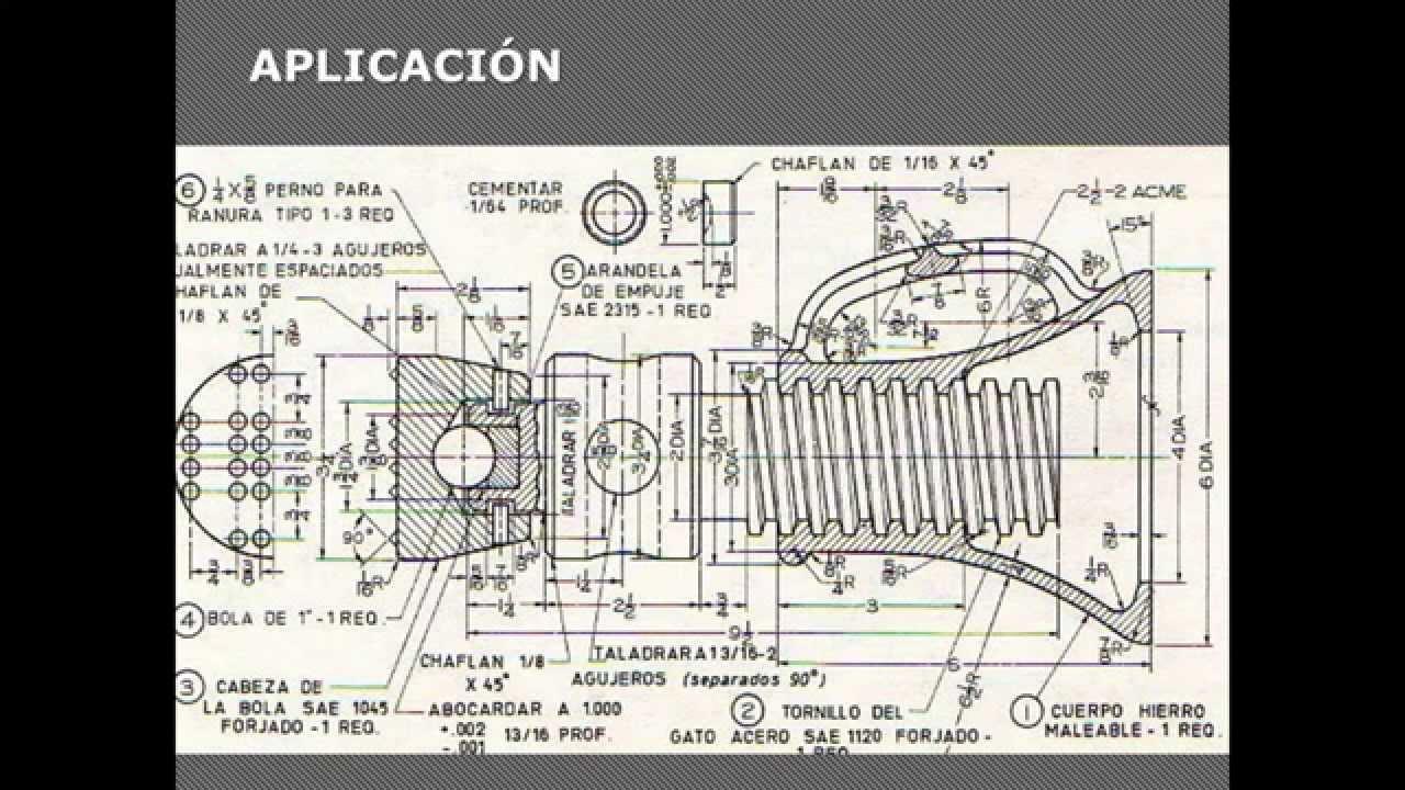 Normas de acotado o dimensionado en dibujo t cnico youtube for Plano de planta dibujo tecnico