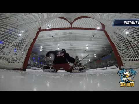 Goal Cam View Patriots Hockey vs San Diego Spartans