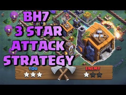 Best Builder Hall 7 (BH7) 3 Star Attack Strategy With All Tr