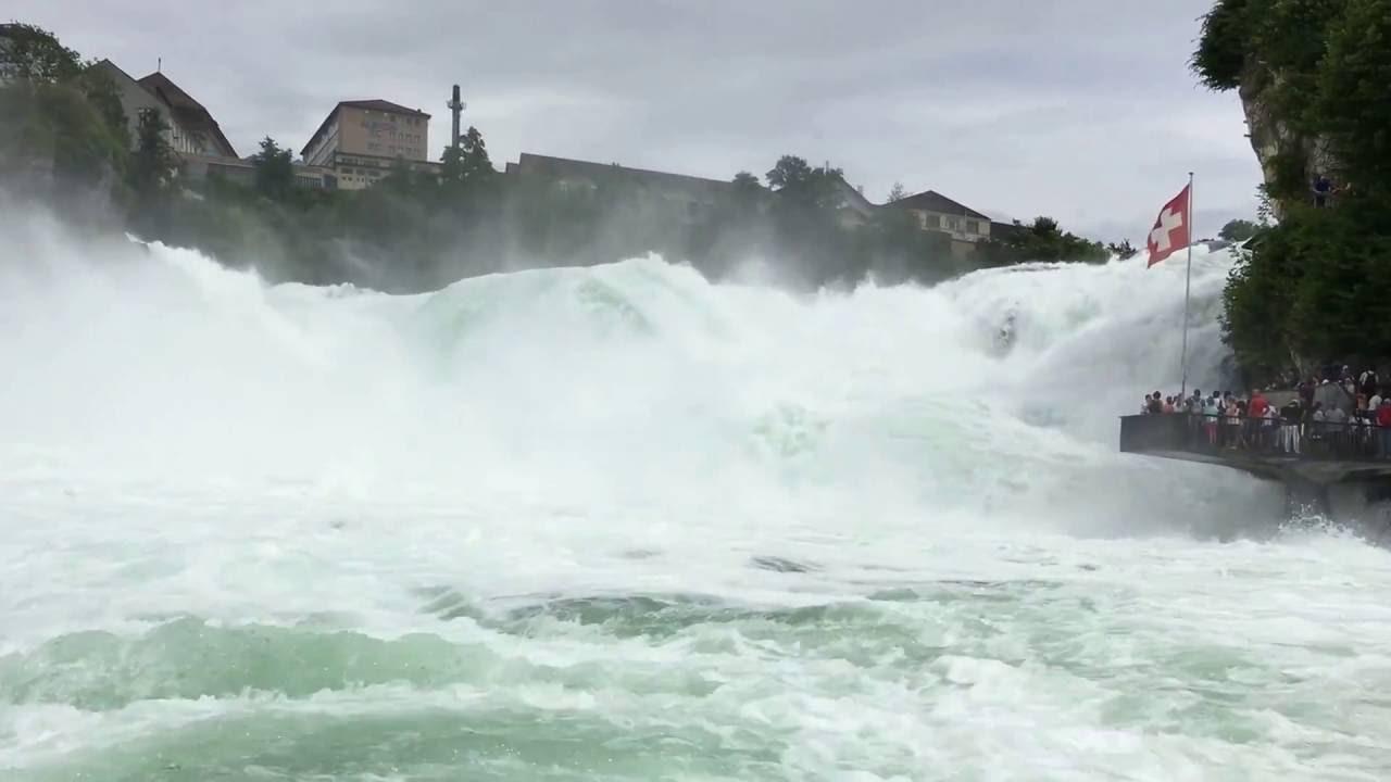 Watervallen Van Schaffhausen Zwitserland.Waterval Schaffhausen Youtube