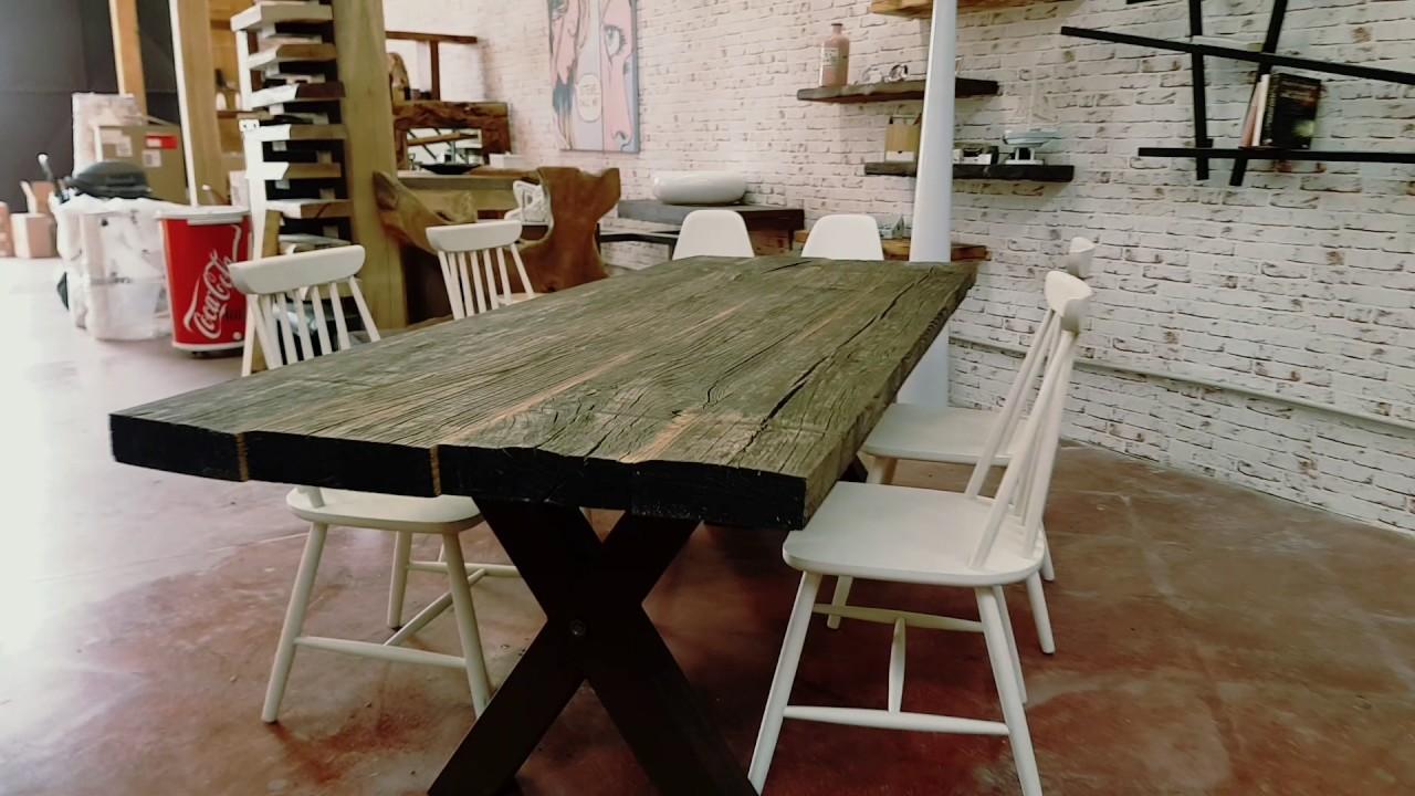 XLAB tavolo in legno di castagno antico 30 anni legno grezzo ...