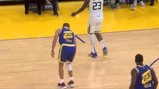 Stephen Curry hurts his knee after this...  | Warriors vs Jazz
