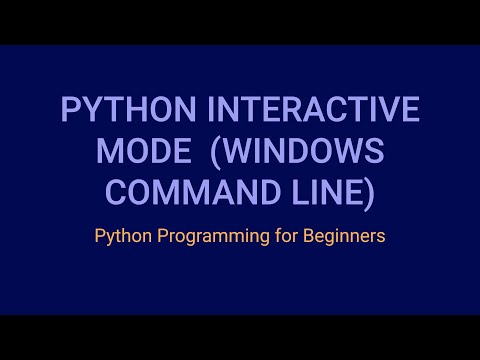 How to Open the Python Interpreter in Interactive Mode in the Command Line Interface (Windows)