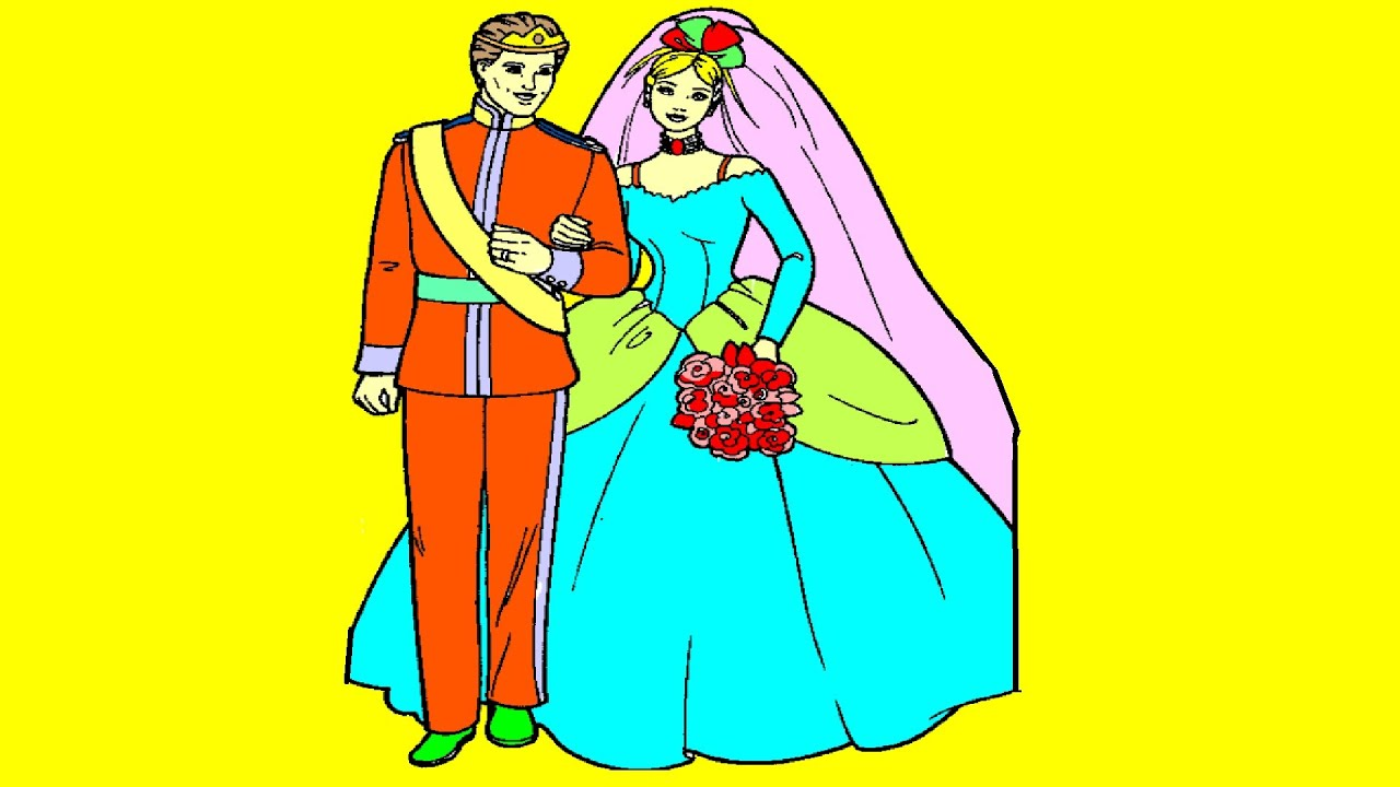 Barbie Wedding Coloring Pages For Kids