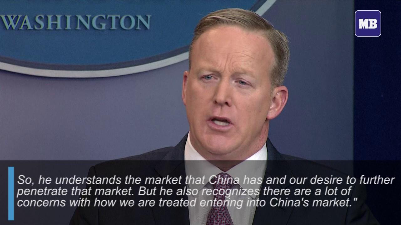 White House warns China on trade and sea lanes