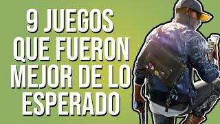 9 VIDEOJUEGOS QUE FUERON MEJOR DE LO ESPERADO