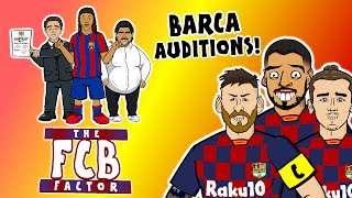 🔴BARCA BOSS - the AUDITIONS!🔵 Xavi? Ronaldinho? Messi? The FCB Factor!