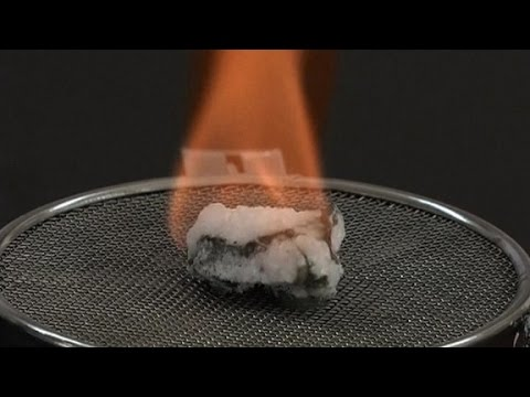 This is what flammable ice looks like