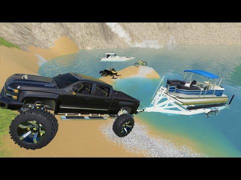 Millionaire has fun on his private mountain with lake | Farming Simulator 19