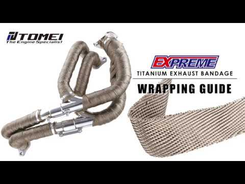 TITANIUM EXHAUST BANDAGE WRAPPING GUIDE