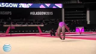 Simone Biles Floor - 2015 World Championships - Podium Training