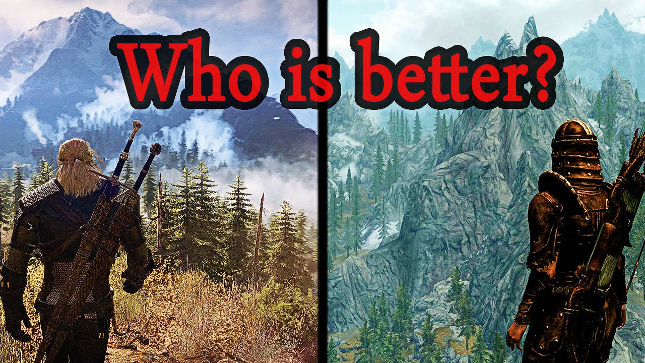 3 Map Compared Skyrim Witcher