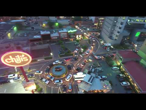 Tegucigalpa Honduras, Flying drone above the capital of Honduras