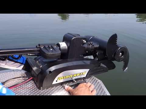Электромотор Minn Kota Terrova. Первый запуск   Рыбалка с FishingSib 2018