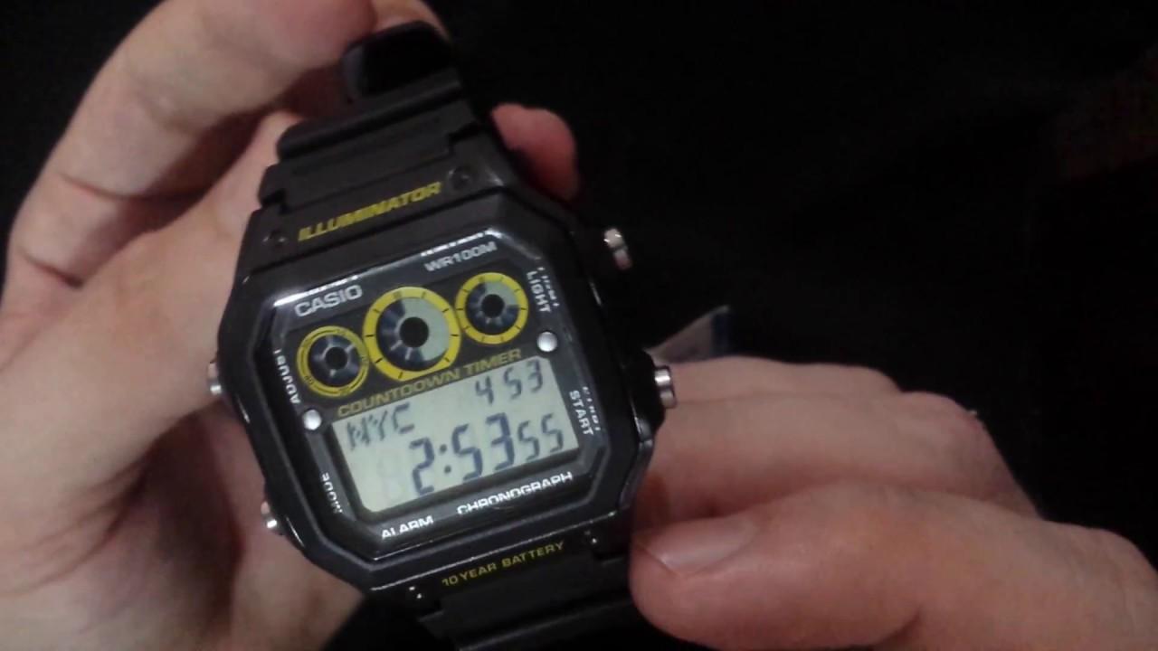 28572f42cb7 Relógio Casio Ae-1300-wh Original Mercado Livre - YouTube