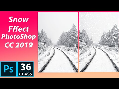 SNOW EFFECT in PhotoShop CC 2019 | PhotoShop Tutorial for beginner in Hindi thumbnail
