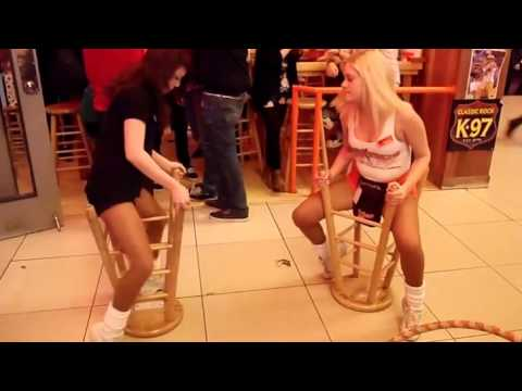 Doc Reno - Hooters Girl Spins on Bar Stool