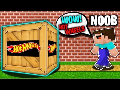 Minecraft NOOB HOT WHEELS SECRET BOX PACKAGE Challenge In Minecraft Animation
