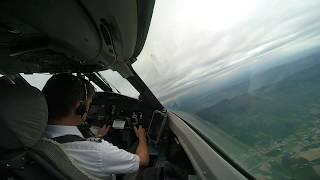 Airline Pilot Cockpit View (9): GENEVA Intl./Switzerland -Takeoff in the Alps