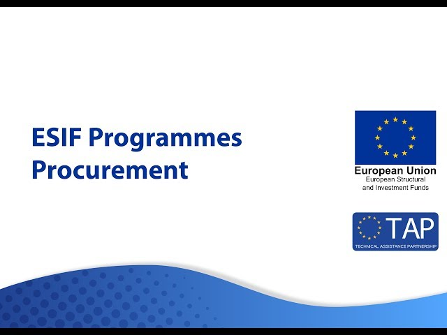 ESIF TAP - Procurement