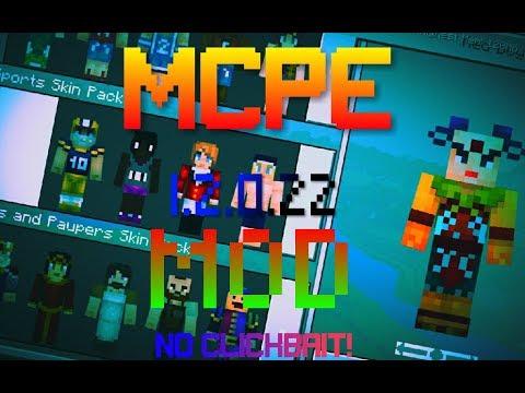 MCPE MOD APK YouTube - Wie ladt man sich skins fur minecraft pe runter