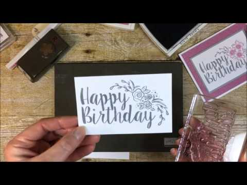 How To Make A Birthday Card With Stampin Ups Big On Birthdays