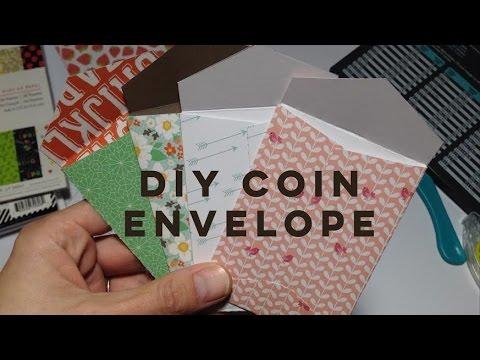 DIY MINI COIN ENVELOPE TUTORIAL | POCKET LETTER SIZE 3.5 x 2.5