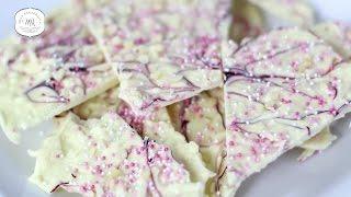 Einhorn Schokolade selber machen - DIY Unicorn Schokolade in Pink mit Glitzer