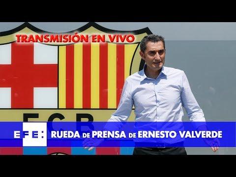 Rueda de prensa de Ernesto Valverde, entrenador del FC Barcelona