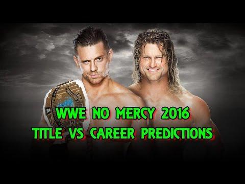 WWE No Mercy 2016 Intercontinental Championship The Miz vs. Dolph Ziggler (Career Vs Title)