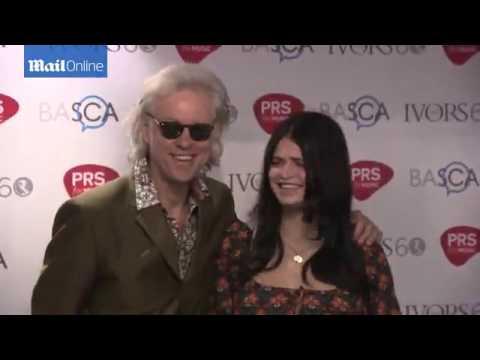 Sir Bob Geldof and Pixie arrive at The Ivor Novello Award