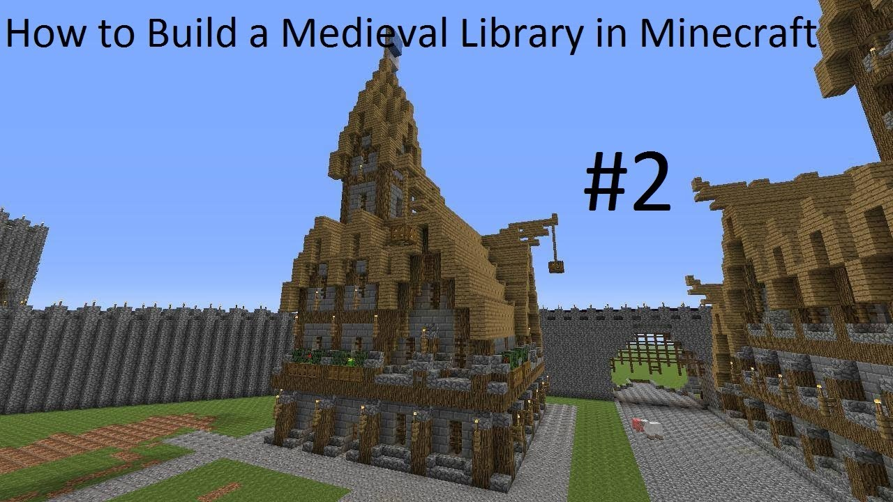 How To Build A Medieval Library In Minecraft Part 2