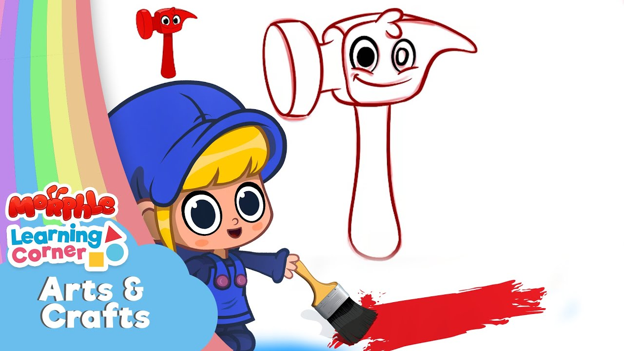 Learn to Draw With Morphle - Morphle Hammer | Arts & Crafts | Learning Videos For Kids | Baby Videos