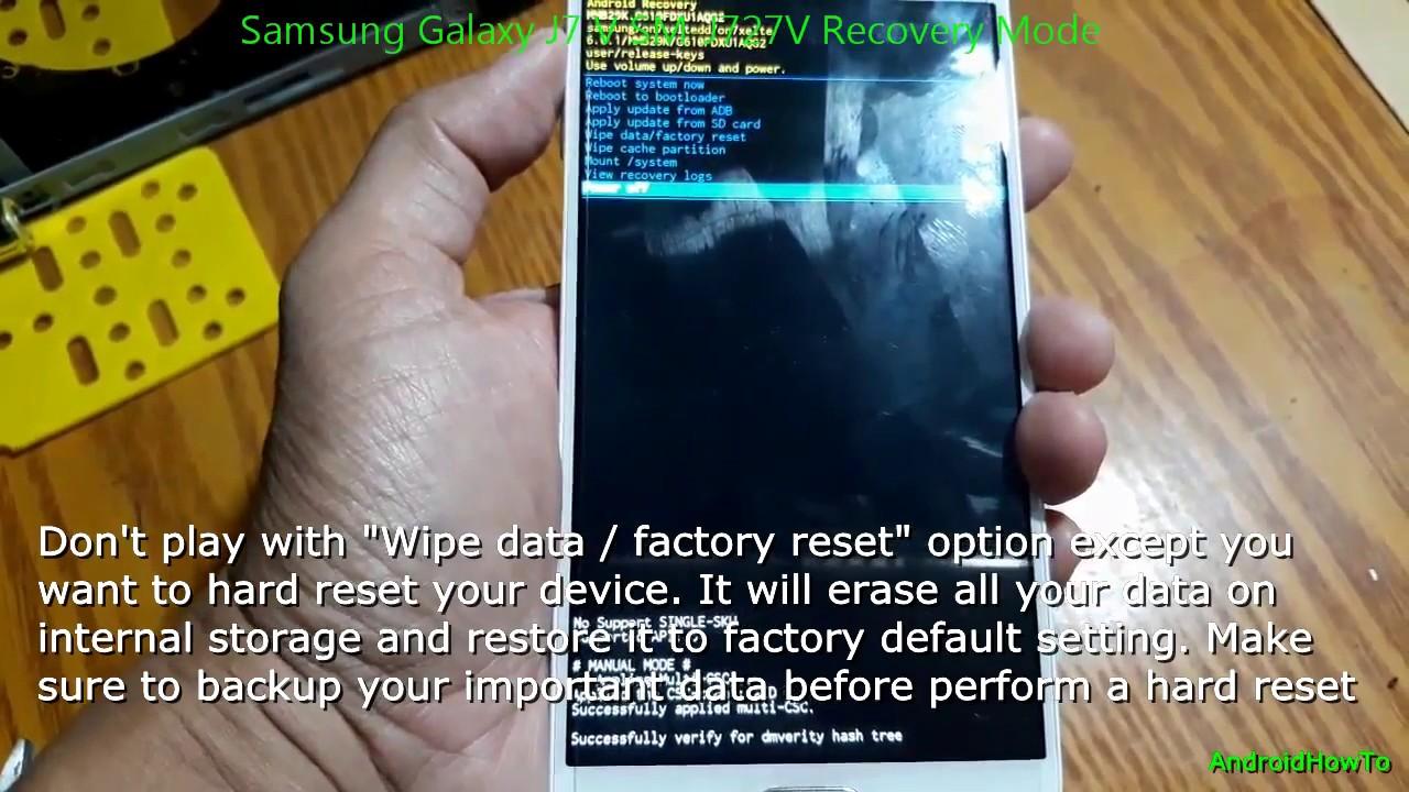 Samsung Galaxy J7 V SM-J727V Recovery Mode