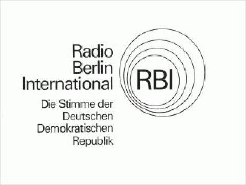 Radio Berlin International ending announce and interval signal in English