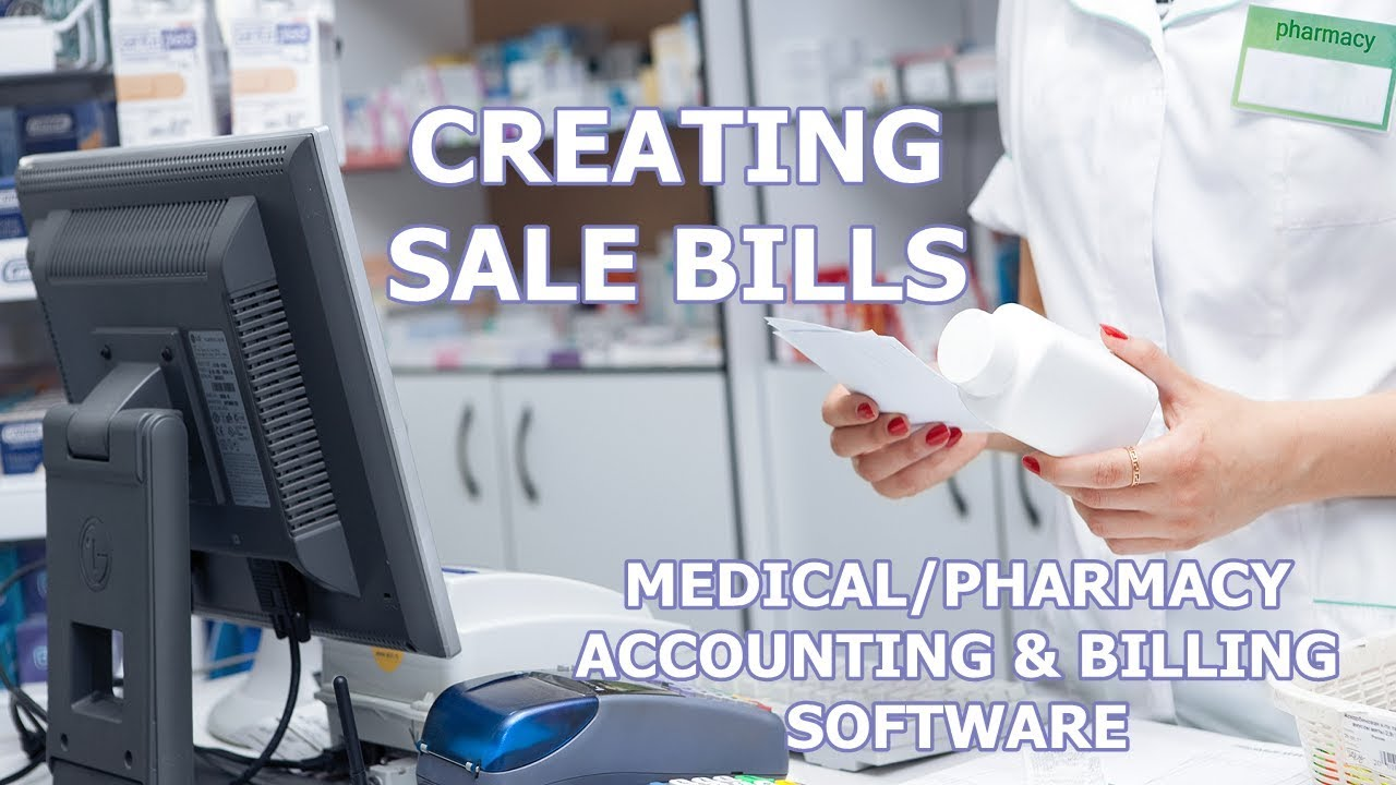 SALE BILLS IN MEDICAL/PHARMACY ACCOUTING & BILLING SOFTWARE