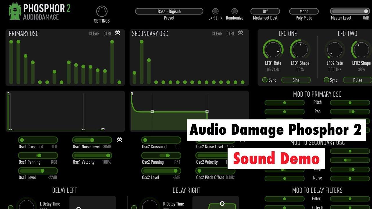 audio damage phosphor 2 review