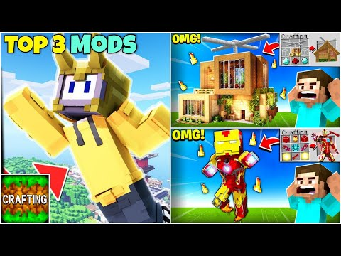 Top 3 Most Popular Mods For Crafting And Building | Without Link | Annie X Gamer