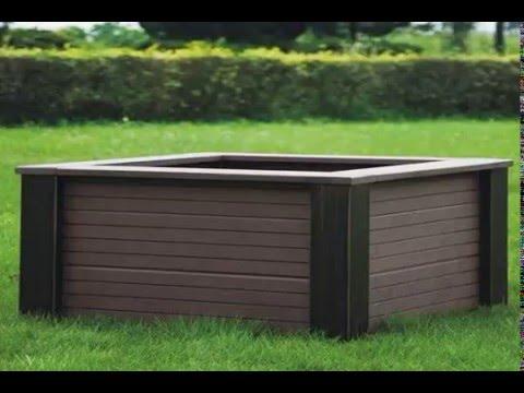build garden box wood plastic composite YouTube