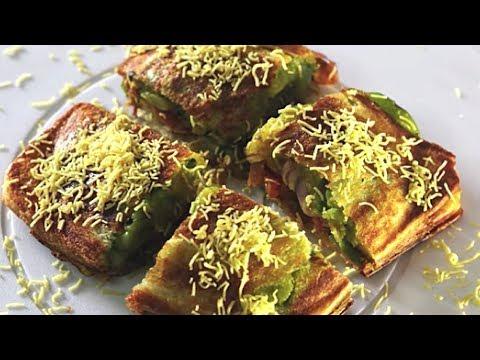 Mumbai Masala Toast Sandwich   Popular Mumbai Street Food   Kanak's Kitchen