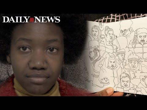 Ebony Bolt creates art through watching people on subways