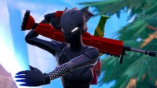 The Black Cat Woman Showcase - Fortnite Season 8 Game Movie