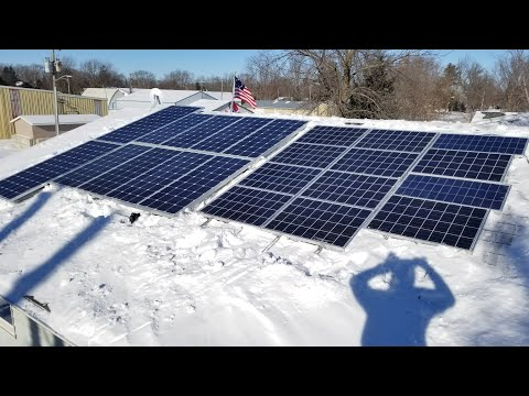 FALLING OFF THE ROOF CLEANING SNOW AND ICE OFF THE SOLAR PANELS